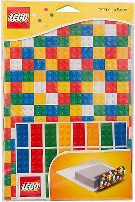 Lego Gift Wrapping Paper Lego Bricks Set