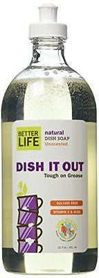 Better Life Dish Soap, Unscented, 22 Ounces