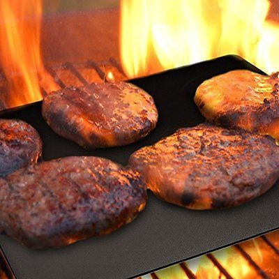 BBQ Grill Mats Set of 3 Non Stick BBQ Grill Mats by Magic Grill for Baking