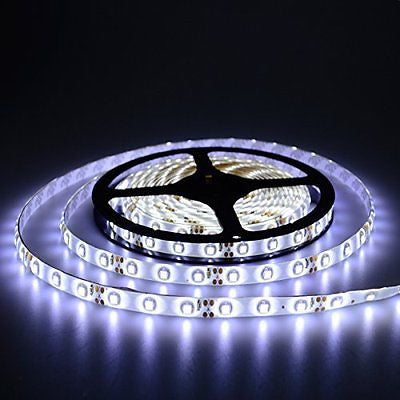 elcPark 5m 16.4 Ft SMD 3528 LED Light Strip Waterproof ip65 DC 12V 300leds Cool