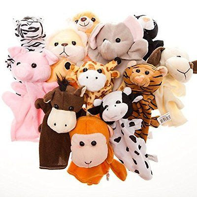 Fun Express Preschool Kindergarten Velour Animal Finger Puppets Kids Toy