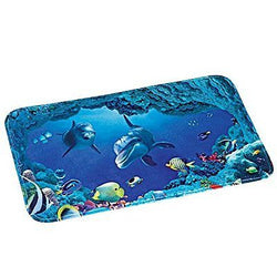 Collections Etc Dolphin Bay Ocean Life Bath Mat