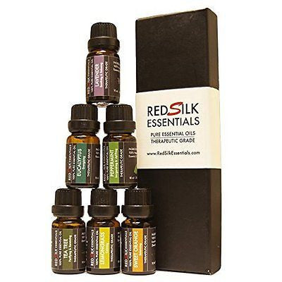 Aromatherapy Top 6 Therapeutic Grade Essential Oil Gift Set, 10 ml
