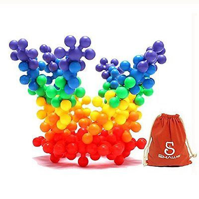 SHAWE Kids Toy, More than 90 Pieces Mighty Molecules Big Size,Interlocking