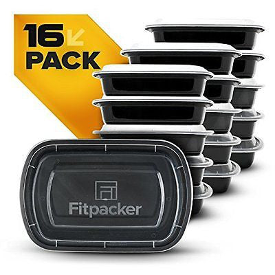 Fitpacker Meal Prep Containers - Plastic Microwavable Stackable Reusable