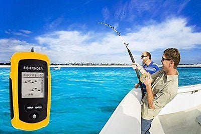 Portable LED back-lighting Fish Finder Sonar Sensor Alarm Transducer Fishfinder