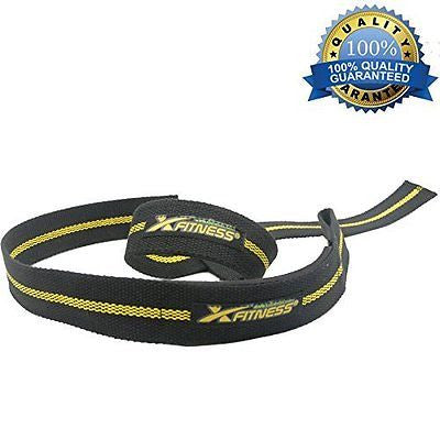 xFitness Padded Weight Lifting Straps Training Wrap - One Pair (2 Straps)
