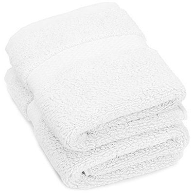 Pinzon Luxury 820-Gram Washcloths - Set of 2, White