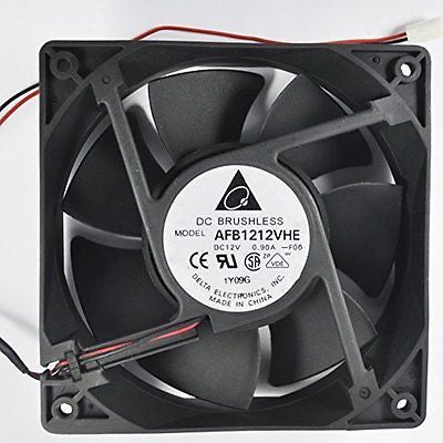 Swellder Delta AFB1212VHE 120mm X 38mm Very High Speed cooling Fan 2Pin 2 wire