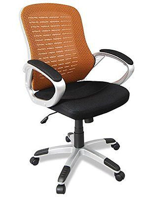Oberon Mid-Back Ergonomic Mesh Office Chair with Padded Armrests