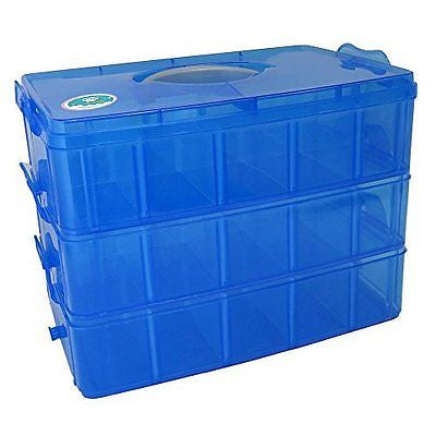 SnapCube - Snap & Stackable Storage Case for Rainbow Loom + Arts & Crafts