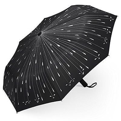Plemo Folding Umbrella With Anti-Slip Rubberized Grip, Windproof, Automatic