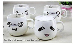 4 Pcs Novelty Cute Lovely Couple Coffee Milk Emotion Mug Cup Set of 4
