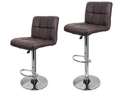 TMS? 2 Synthetic Leather Modern Design Adjustable Swivel Barstools Hydraulic