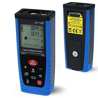 100m/328ft Laser Distance Meter,Handheld Range Finder Measure Diastimeter
