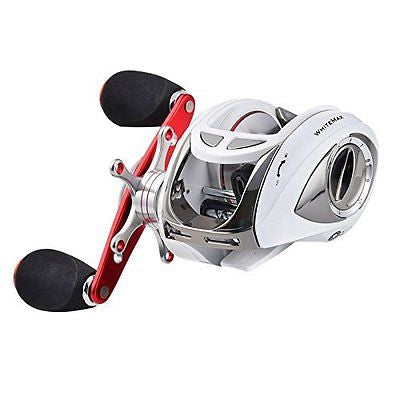 New for 2016! KastKing WhiteMax 5.1:1 Low Gear Ratio Baitcasting Reel