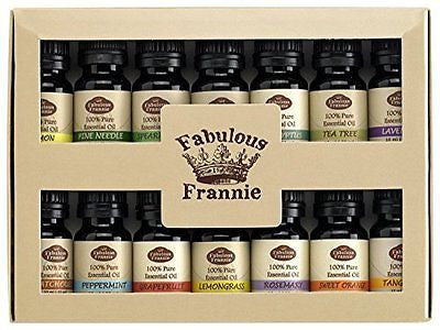 Fabulous Frannie High-Quality 14-Pack Aromatherapy Starter Gift Set of 100%