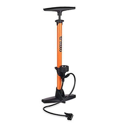 Enkeeo Bike Floor Pump 160 PSI Track Pump with Gauge Fits Presta & Schrader