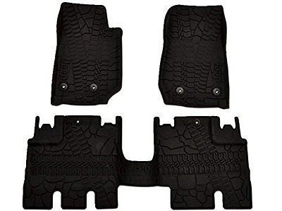 Mopar 82213860 Black All-Weather 3-Piece Floor Mat Set