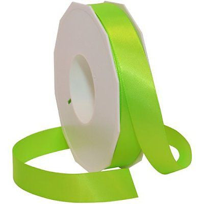Morex Ribbon Neon Brights Satin, 7/8-inch by 50-yard, Key Lime
