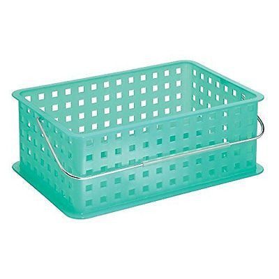 InterDesign Storage Organizer Basket, with Handle for Bathroom, Health