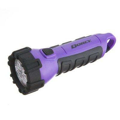 Dorcy Floating Waterproof LED Flashlight with Carabineer Clip 55-Lumens Finish