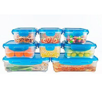 Food Storage Containers BPA Free Leakproof Microwavable Plastic Set of 8
