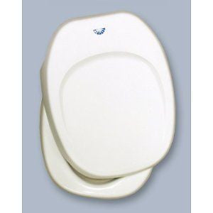 Thetford 36787 Aqua Magic IV Toilet Seat & Cover, Parchment