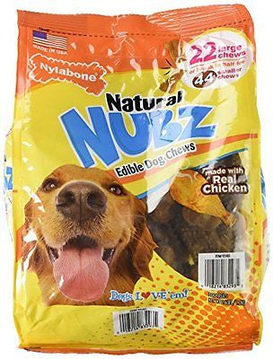 Nylabone Natural Nubz Edible Dog Chews 22ct. (2.6lb bag)