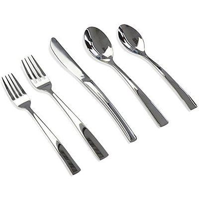 Delicate 20 Piece Stainless Steel Flatware Set with Spoons and Knives Service