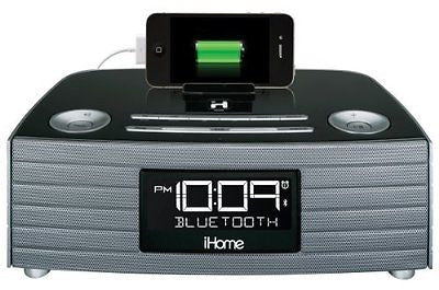 iHome IBT97GC  Bluetooth Stereo FM Clock Radio and Speakerphone with USB Chargi