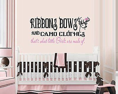 RIBBONS BOWS AND CAMO CLOTHES, That's what little girls are made of ~