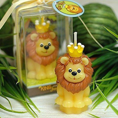Mini Lion Baby Simba Birthday Candle Cake Topper Baby Shower Favors