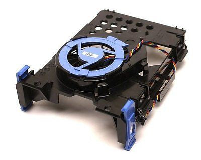 Genuine DELL Hard Drive Blower Fan Plus Hard Drive Bracket and Fan Caddy for Op