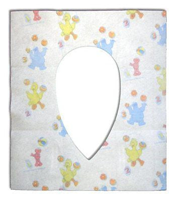 Sesame Street Potty Topper Disposable Stick-in-Place Toilet Seat Covers