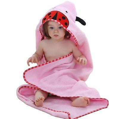 Cartoon Animal Style Hooded Baby Towel 0-6 years