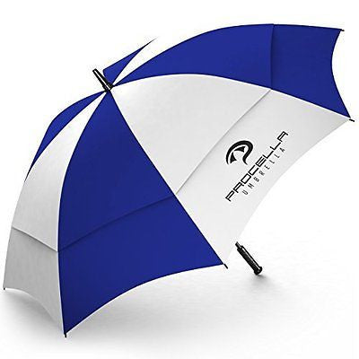 Procella Golf Umbrella 62-inch Large Windproof Auto Open Rain & Wind Resistant
