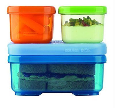 Rubbermaid LunchBlox Kids Tall Lunch Kit Blue/Orange/Green 1866739