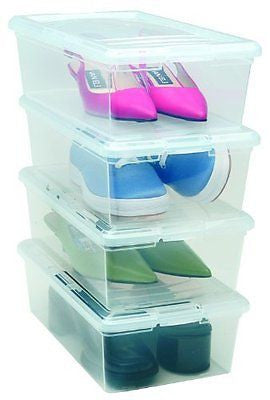 6 Quart Modular Storage Box, 18 Pack, Clear
