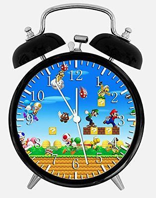 "New Super Mario Alarm Desk Clock 3.75"" Room Decor W425 Will Be a Nice Gift"