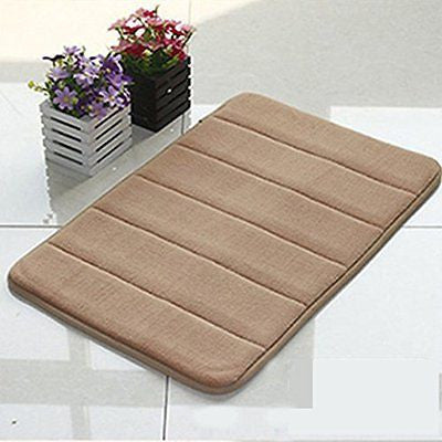 LOCHAS Memory Foam Bath Mat Soft and Anti-slip for Bathroom Safty 24 x 16Inches