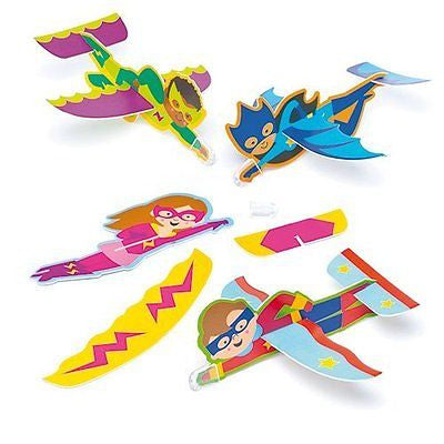Star Hero Gliders for Children in 4 Assorted Designs Perfect Party Bag Filler