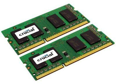 Crucial 16GB Kit (8GBx2) DDR3L 1333 MT/s (PC3-10600) CL9 204-Pin SODIMM Memory