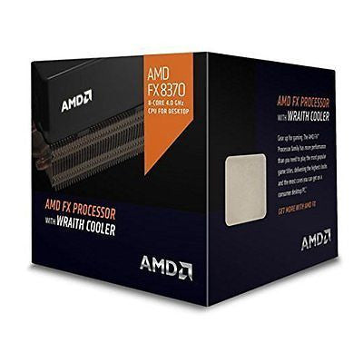 AMD Octa-core FX-8370 4GHz Desktop Processor with Wraith Cooler, Black Edition
