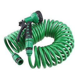 32/25ft Garden hose Household washing tube irrigation pipe with Sprayer Nozzle