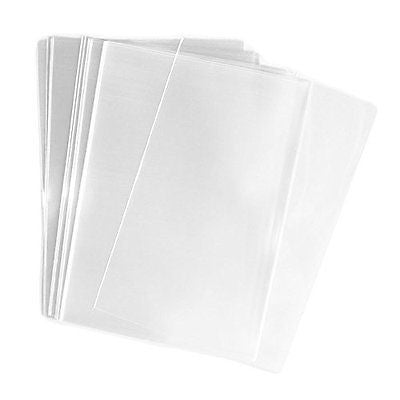 100 Pcs 5x7 (O) Clear Flat Cello / Cellophane Treat Bags Good for Bakery
