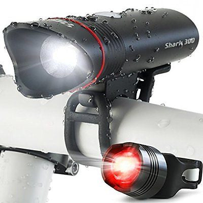 SUPER BRIGHT USB Rechargeable Bike Light- Cycle Torch Shark 300 Bicycle