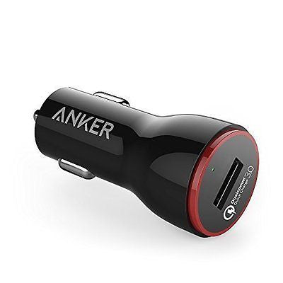 Quick Charge 3.0 Anker 24W USB Car Charger (Quick Charge 2.0) for Galaxy iPhone