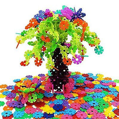 Magtimes Educational Toys Brain Flakes 500 Piece Interlocking Plastic Disc Set