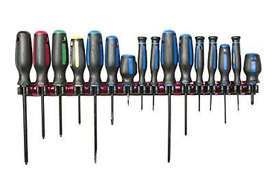 Olsa Tools Magnetic Screwdriver Holder Fits up to 16 Screwdrivers Organizer